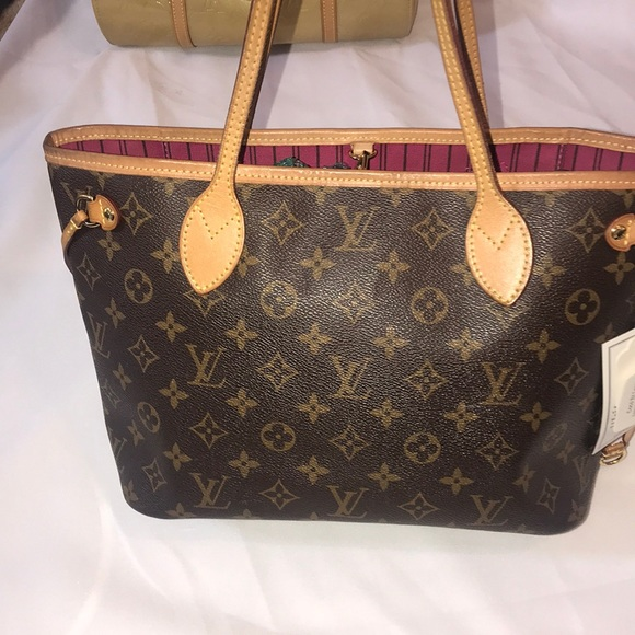 Louis Vuitton Bags Neverfull Pm Special Pink Inside Poshmark